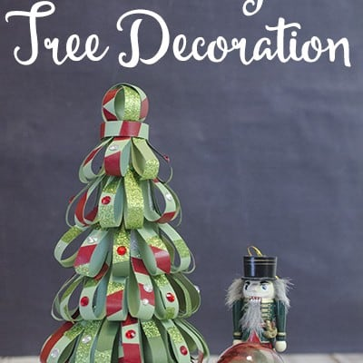 Washi Tape Christmas Tree Decoration