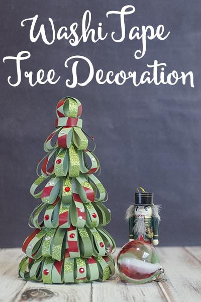 Washi Tape Tree Decoration #CraftAmazing AD
