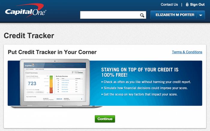 capital one credit tracker