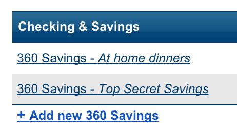 savings account names