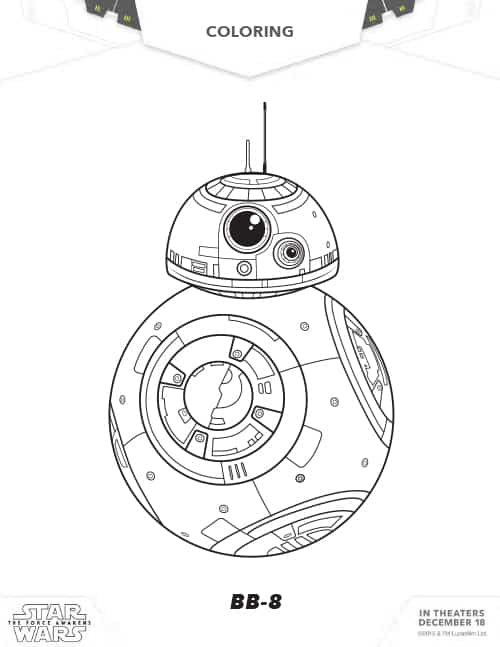 star wars activity packet bb8