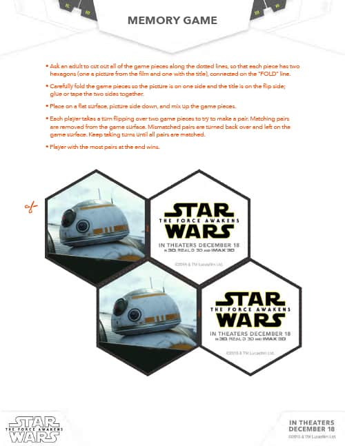 star wars activty packet memory