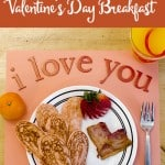 Pink & Orange Heart-Shaped Breakfast for Valentine's Day
