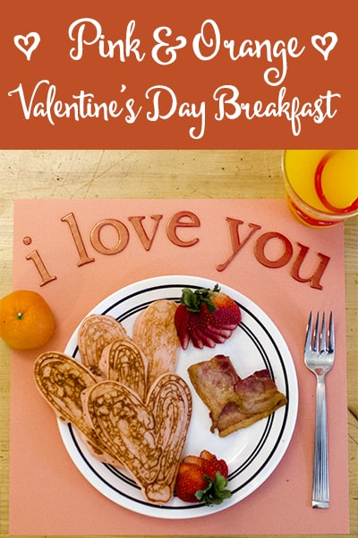 Pink and Orange Valentines Day Breakfast with Tampico