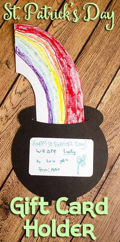 St Patricks Day Gift Card Holder Silhouette
