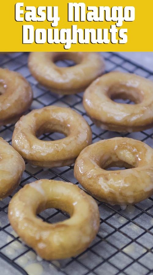 homemade mango doughnuts