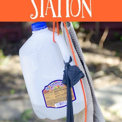 Upcycled outdoor handwashing station