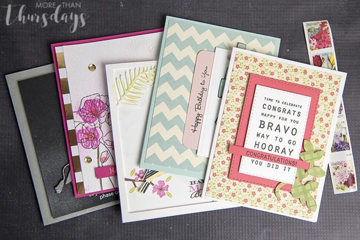 All cards with postage
