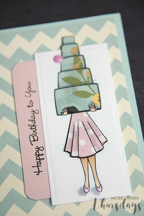 stack birthday card