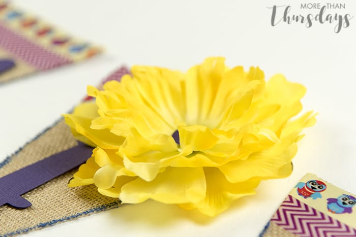 Flower flattened and attached #SpringCreations AD