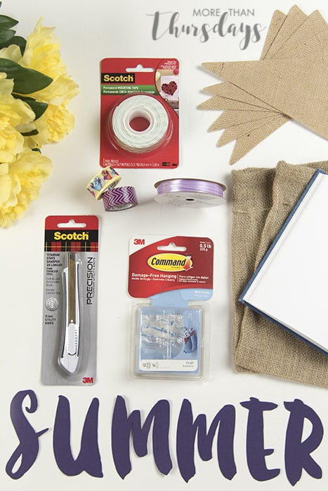 Supplies laid out #SpringCreations AD