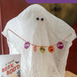 BOO! Cheesecloth Ghost Container Decoration