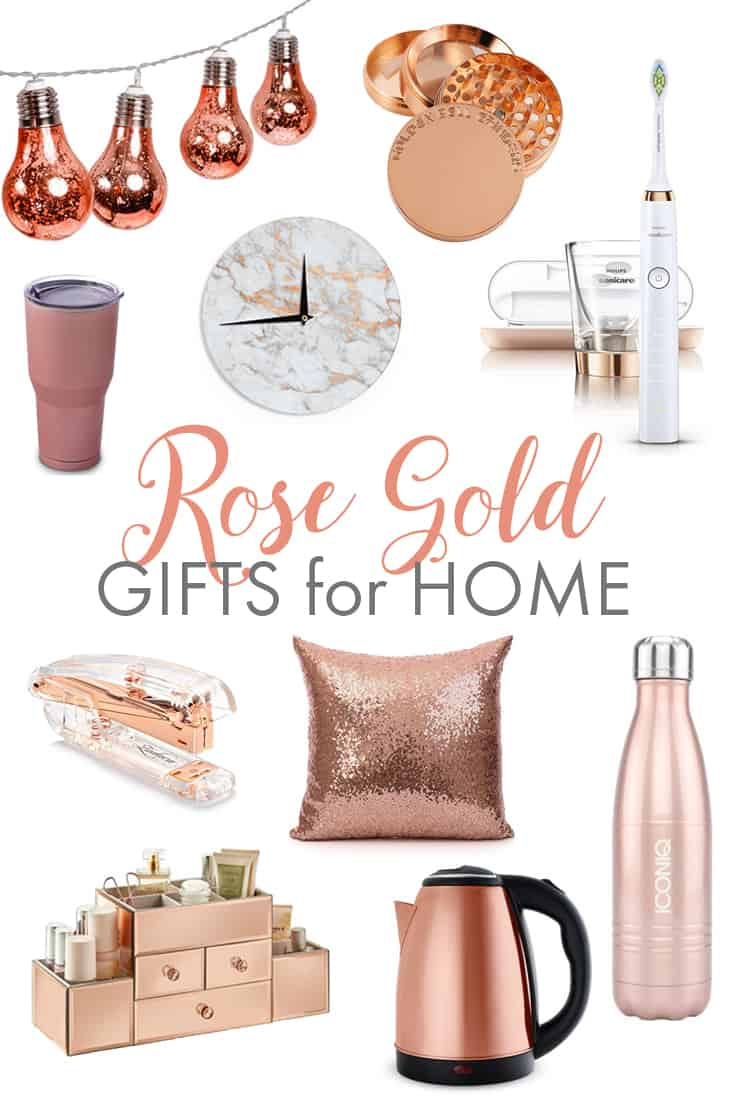 rose gold gifts for the home