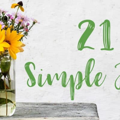 21 Simple Joys