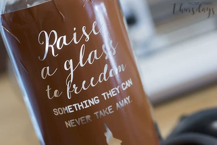 Coloring etched glass - Silhouette tutorial - More Than Thursdays
