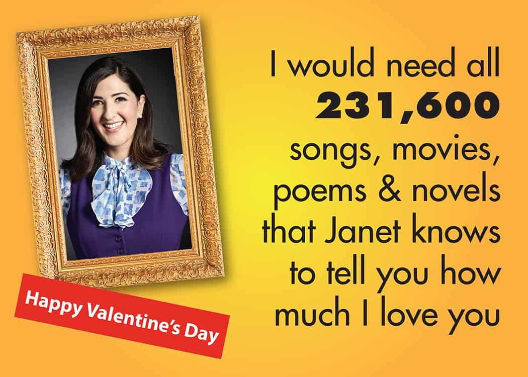 The Good Place Valentine Janet stats