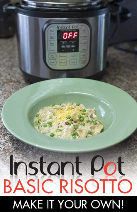 Basic risotto recipe for your instant pot