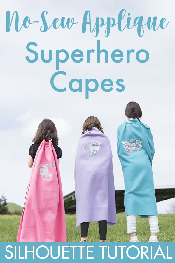 No-Sew Applique Superhero Capes