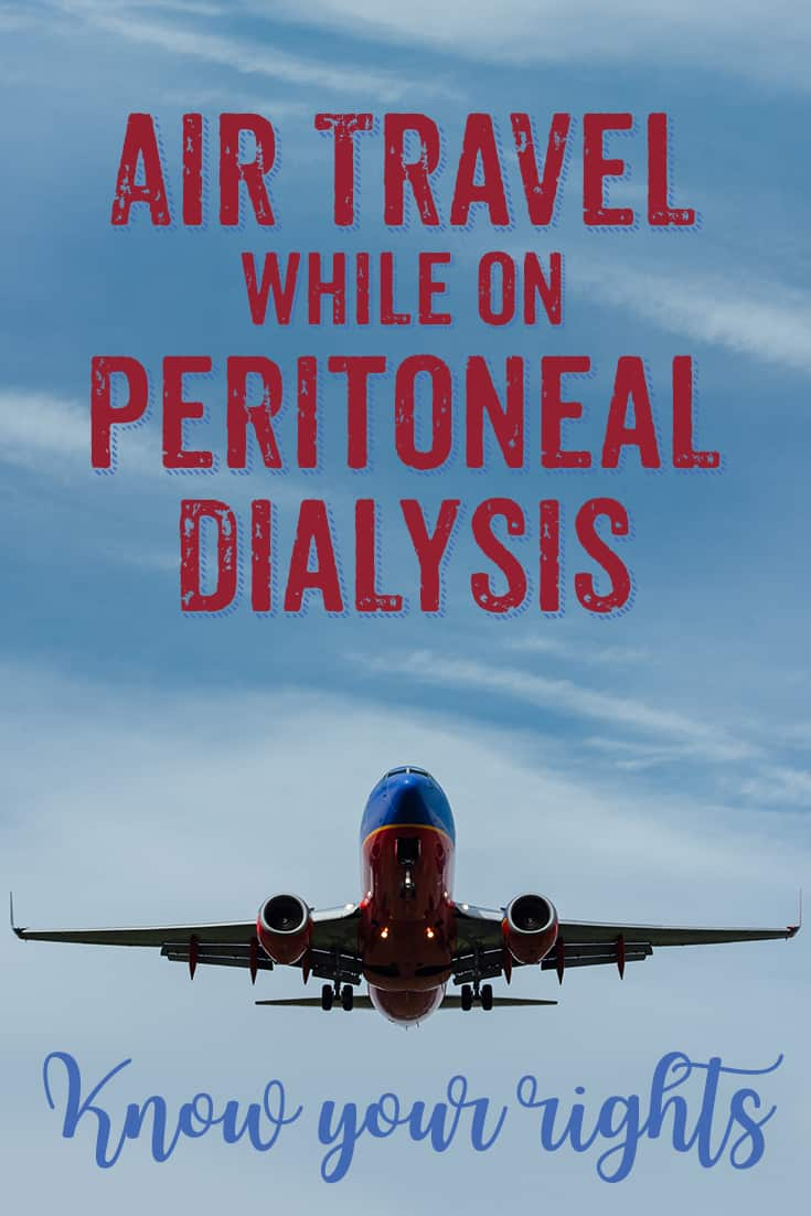 air travel on peritoneal dialysis