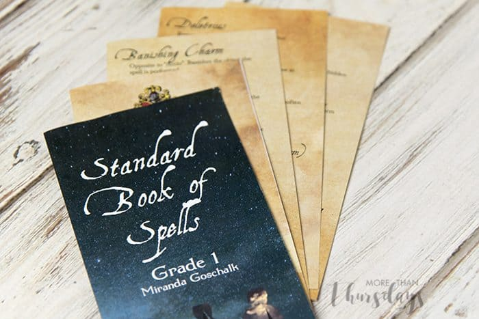 harry potter spell book printable