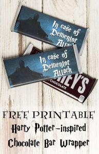 """Dementor Attack"" chocolate bar printable"