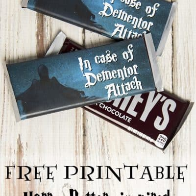 """Dementor Attack"" chocolate bar printable"