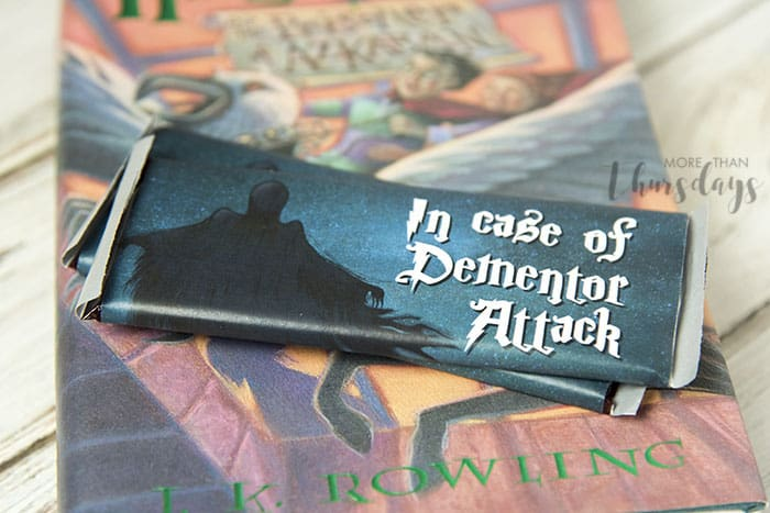 dementor attack chocolate bar wrapper