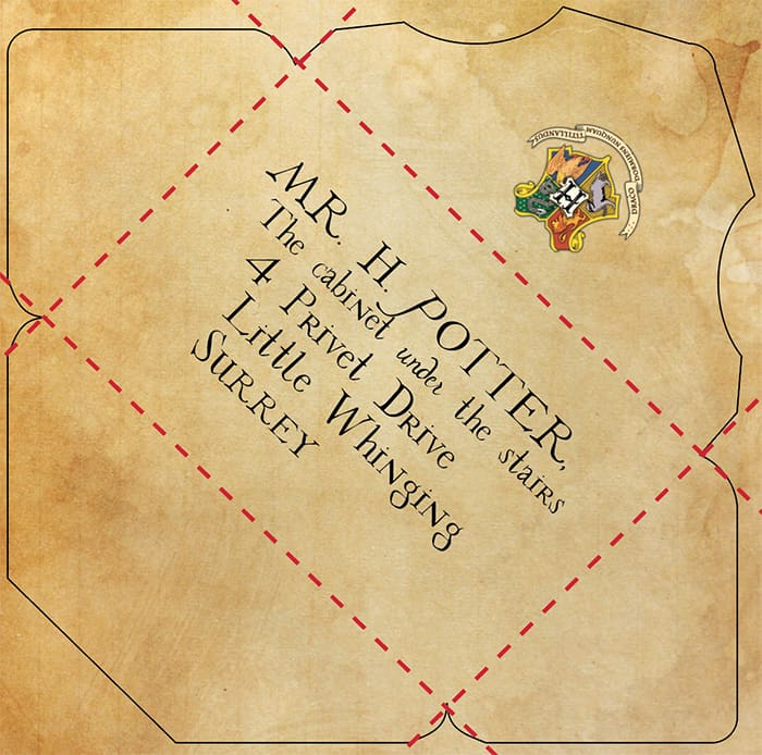 Universal image intended for hogwarts envelope printable