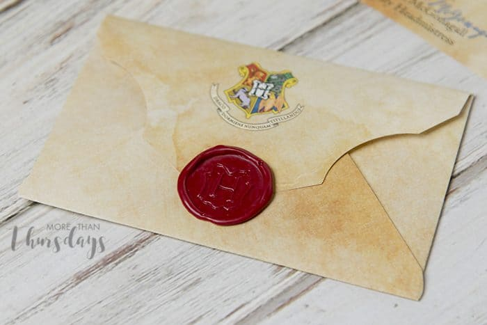 harry potter envelope with hogwarts seal