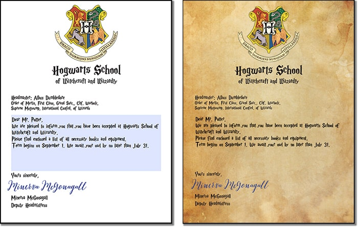 Inventive image with regard to harry potter acceptance letter printable