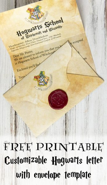 DIY Hogwarts Letter and Harry Potter Envelope and Hogwarts Seal