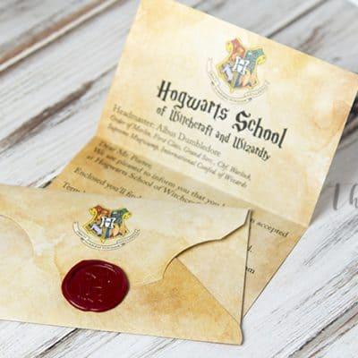 DIY Hogwarts letter printable