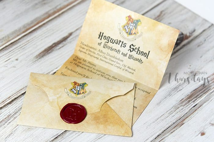 Hogwarts Letter With Harry Potter Envelope