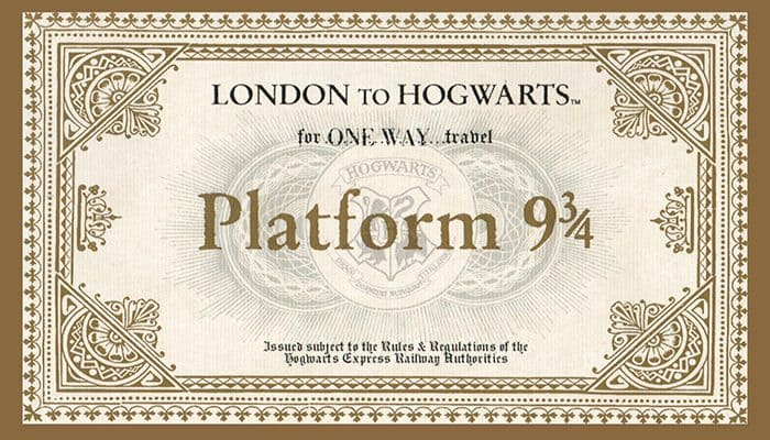 Hogwarts ticket