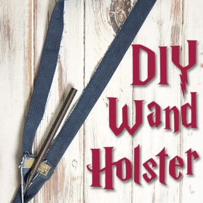 DIY Wand Holster for Harry Potter Wand