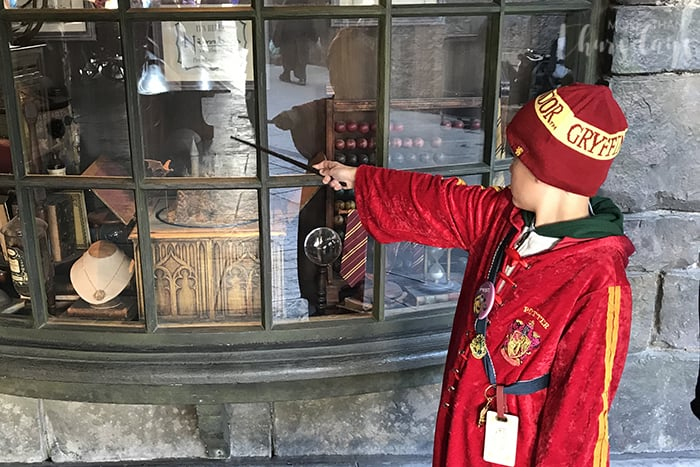 Harry Potter interactive want at Universal Orlando