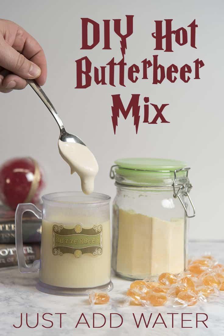 Make your own Hot Butterbeer Mix, just add water! #harrypotter #universalorlando #butterbeer #wizardingworld