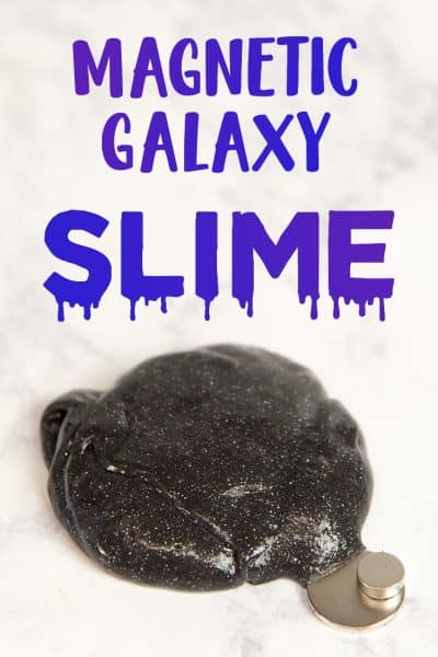 Fun recipe for how to make Magnetic Galaxy Slime