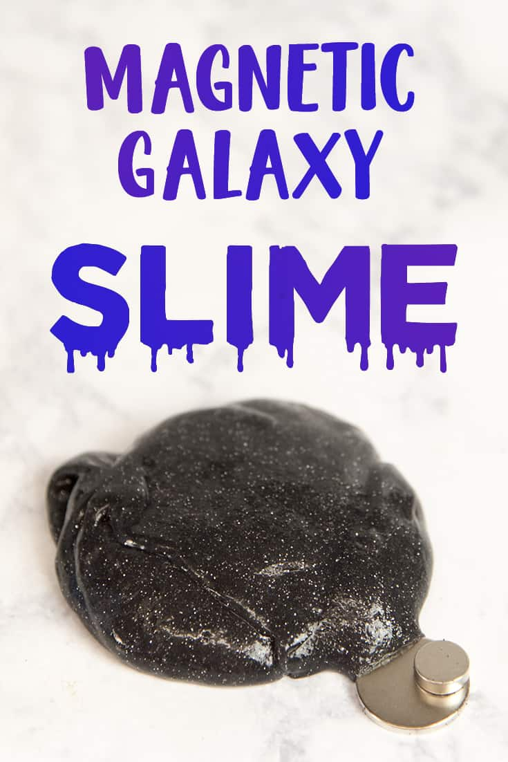 Make your own magnetic galaxy slime - no borax or contact lens solution needed!