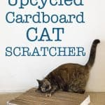 DIY Upcycled Cardboard Cat Scratcher