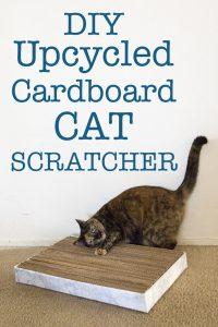 DIY Upcycled Cat Scratcher