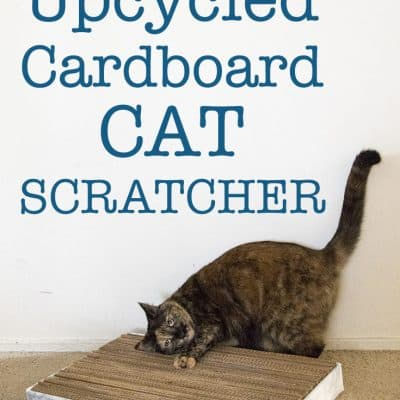 DIY Upcycled Cat Scratcher