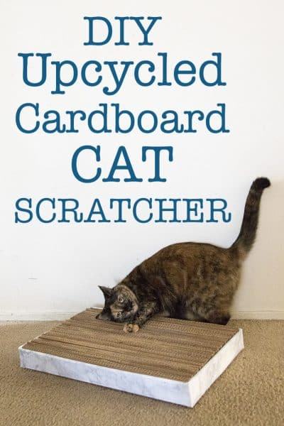 Diy Upcycled Cat Scratcher More Than Thursdays