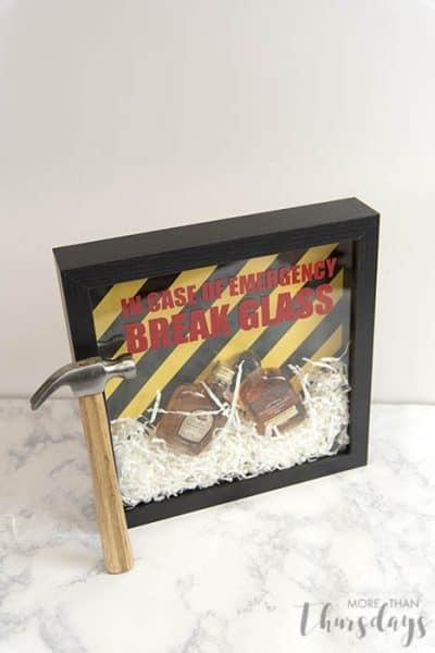 Emergency shadowbox with hammer