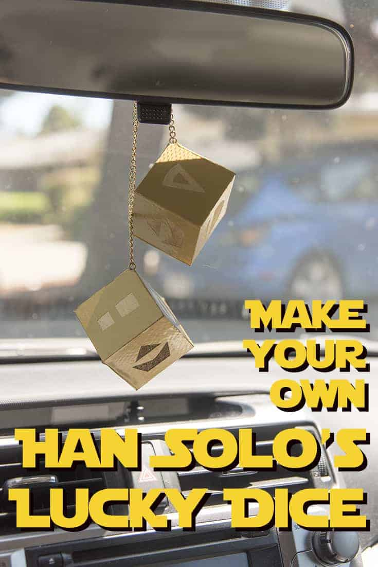 Make your own Han Solo's Lucky Dice! #StarWars - One more detail to make your car just a little bit more like the Millennium Falcon, you can easily make your own lucky dice for the rearview mirror!