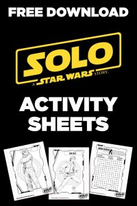 "Free Download: ""Solo"" activity sheets"