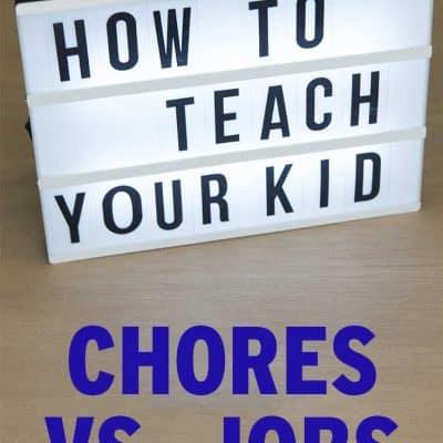 Chores vs. Jobs