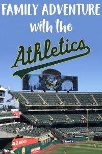 Family fun day with the Oakland A's
