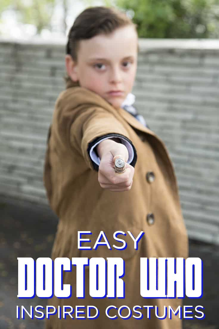Celebrate Halloween the Doctor Who way with this collection of easy-to-put-together Doctor Who inspired costumes! #DoctorWho #Whovian #Halloween #costume #Halloweencostume #cosplay