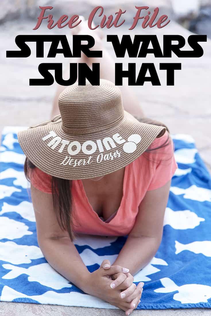 Star Wars inspired Sun Hat - FREE Cut File SVG #StarWars